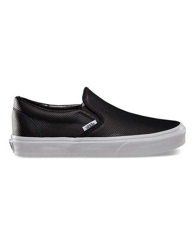 CLASSIC SLIP ON PERF LEATHER BK