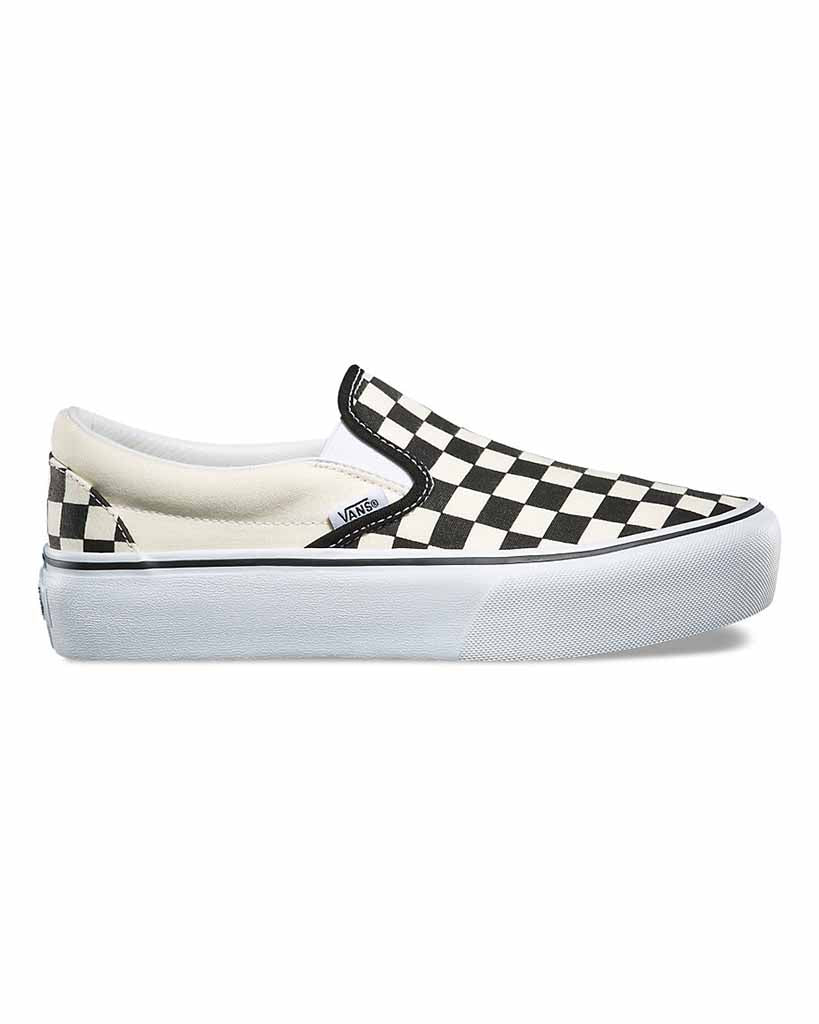 Souliers VANS CLASSIC SLIP-ON PLATFORM BLACK&WHITE CHECKERBOARD