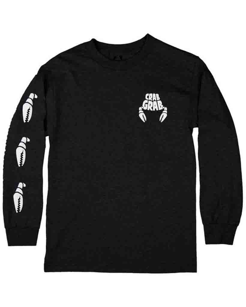 Long sleeve T-shirt CRAB GRAB CLAW SLEEVE LS BLACK