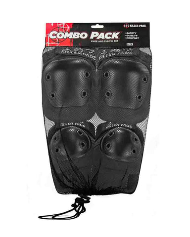 COMBO PACK KNEES & ELBOWS BLACK
