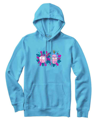 DIRTY P RICK&MORTY HOODIE PACIFIC BLUE
