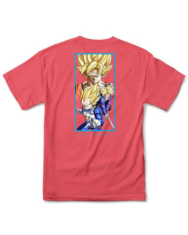 X DRAGON BALL Z DBZ DIRTY P TEE CORAL