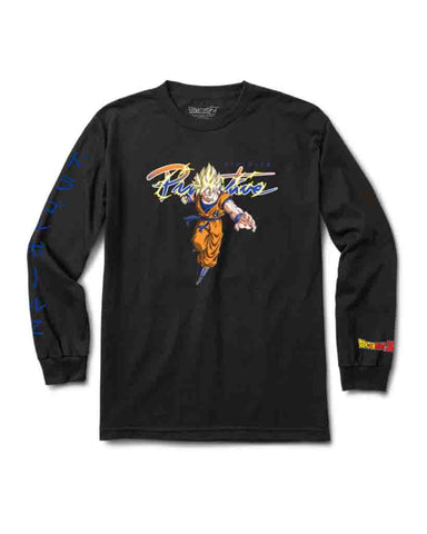 X DRAGON BALL Z NUEVO GOKU SAIYAN LS TEE BLACK