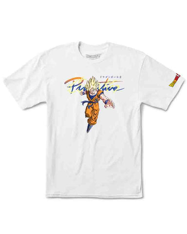 X DRAGON BALL Z  NUEVO GOKU SAIYAN TEE WHITE