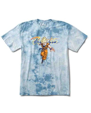 X DRAGON BALL Z NUEVO GOKU SUPER SAIYAN WASH TEE SLATE WASH