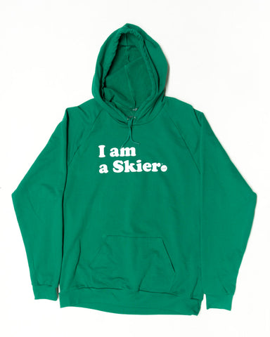 I AM A SKIER PULLOVER GREEN