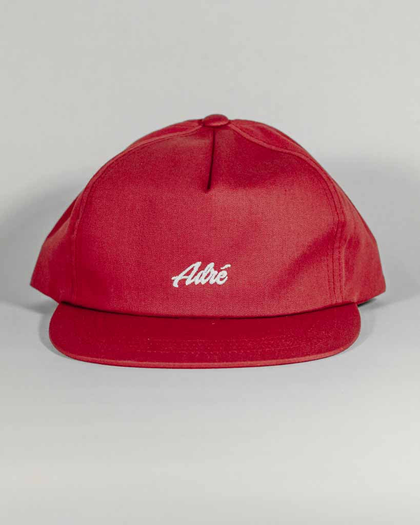 Casquette ADRENALINE 5PANEL SOFT SCRIPT ROUGE