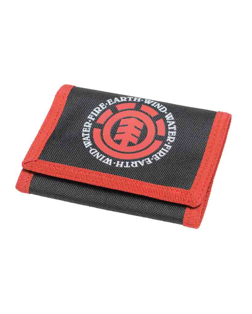 Porte-monnaie ELEMENT ELEMENTAL WALLET BLACK RED