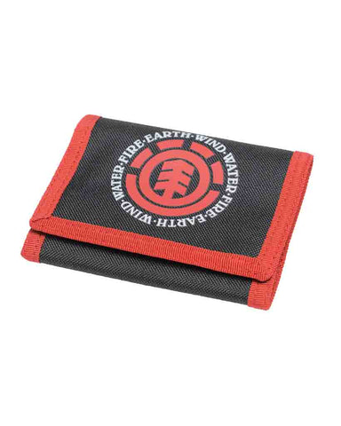 ELEMENTAL WALLET BLACK RED
