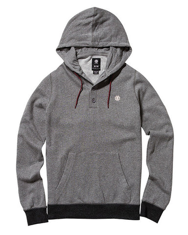 CLASSIC CORNELL HO GREY HEATHER HENLEY HOODIE