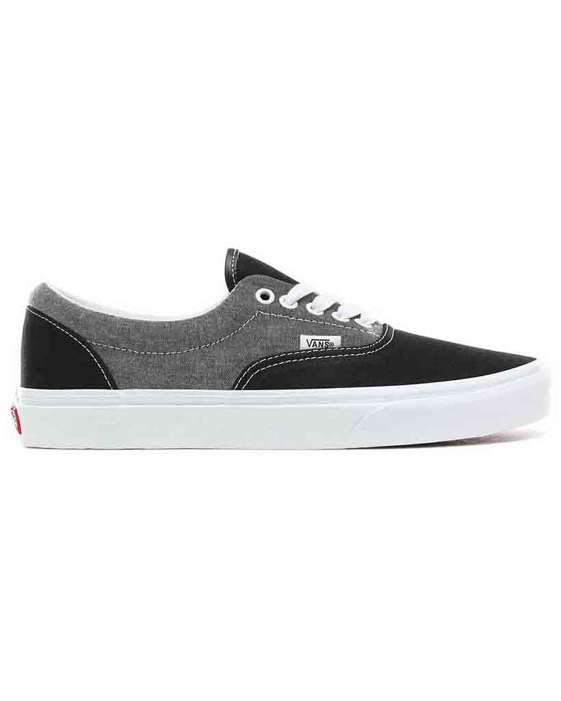 Souliers VANS ERA CHAMBRAY CANVAS BLACK T
