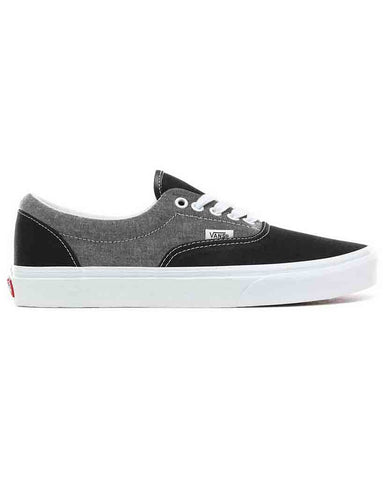 VANS ERA CHAMBRAY CANVAS BLACK T SKATE SHOES