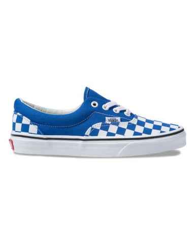 VANS ERA CHECKERBOARD BLUE LAPIS -TRUE WHITE SKATE SHOES