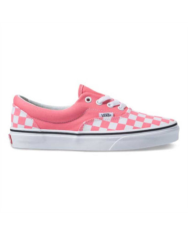 VANS ERA CHECKERBOARD STRAWBERRY PINK-TRUE WHITE SKATE SHOES