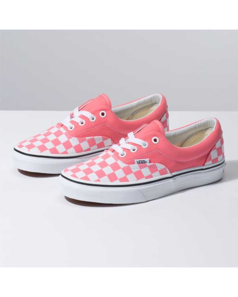 fea6350f5f6 VANS ERA STRAWBERRY CHECKERBOARD PINK-TRUE WHITE - Boutique Adrenaline