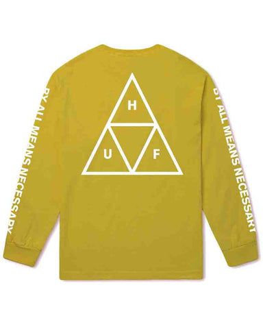 ESSENTIALS TRIPLE TRIANGLE LONG SLEEVE SUPER LEMON