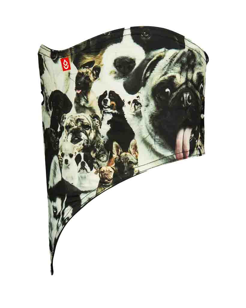 Neck warmer AIRHOLE FACEMASK STANDARD | 10K SOFTSHELL DOGS