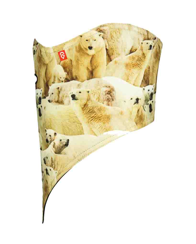 Neck warmer AIRHOLE FACEMASK STANDARD | 10K SOFTSHELL POLAR BEARS