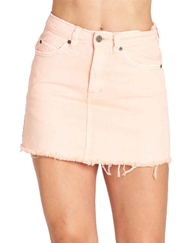 FELIX DENIM SKIRT PINK