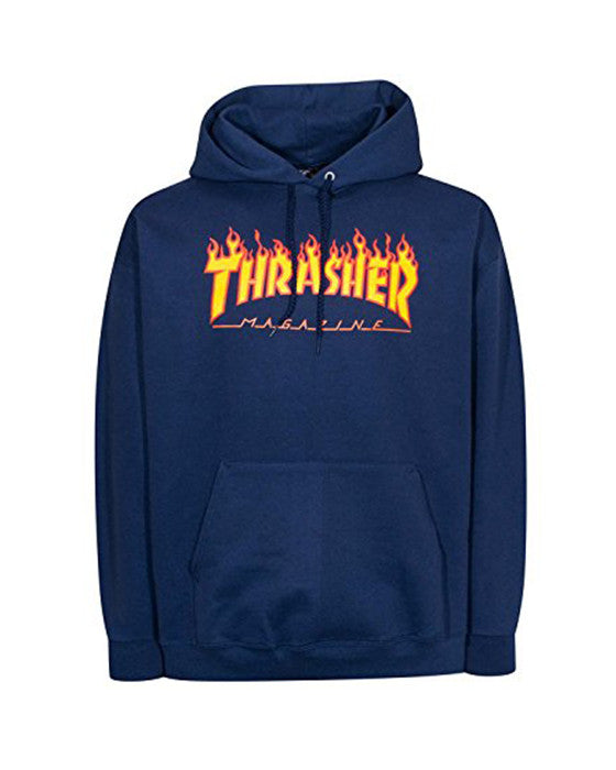 Hoodie THRASHER FLAME LOGO NAVY