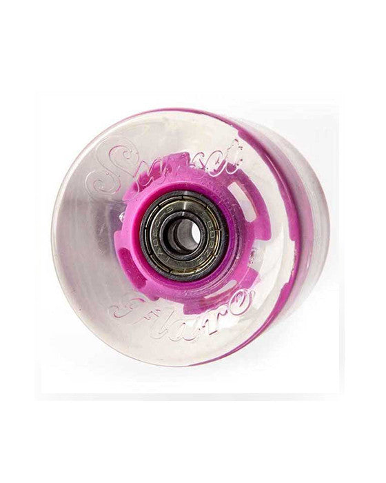 Longboard wheels SUNSET FLARE LED PINK 59MM 78A