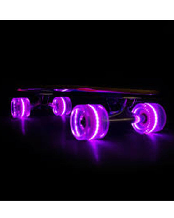 Longboard wheels SUNSET FLARE LED PURPLE 65MM / 78A