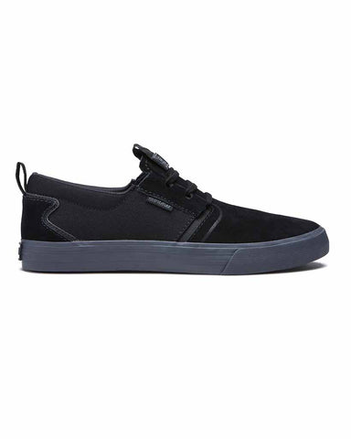 SUPRA FLOW BLACK DARK GREY SKATE SHOES
