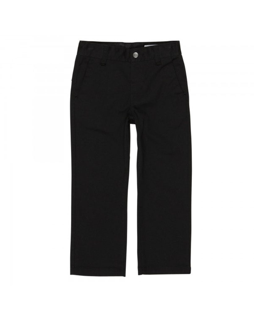 VOLCOM FRICKIN LITTLE BOYS PANTS MODERN STRETCH BLACK