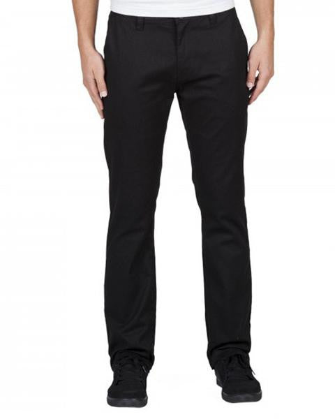 VOLCOM FRICKIN MODERN STRAIGHT PANTS STRETCH CHINO BLACK