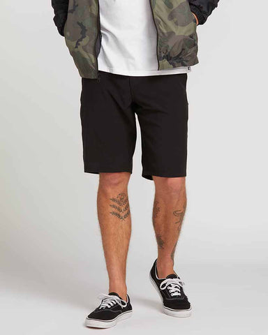 FRICKIN SURF N' TURF STATIC HYBRID SHORTS BLACKOUT