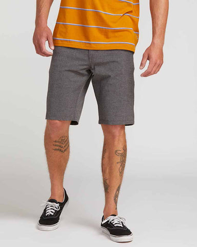 FRICKIN SURF N' TURF STATIC HYBRID SHORTS CHARCOAL HEATHER