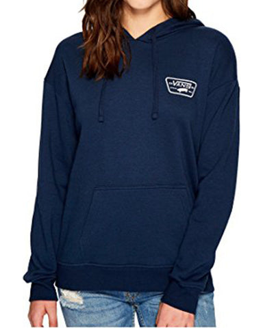 FULL PATCH HOODIE DRESS BLUE