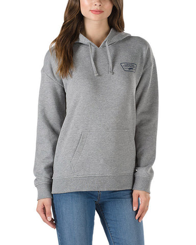 FULL PATCH HOODIE GREY HEATHER