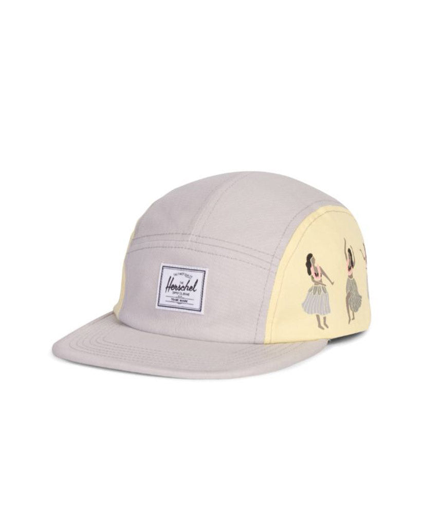 HERSCHEL GLENDALE YOUTH COTTON TWILL SILVER MELLOW YELLOW Cap