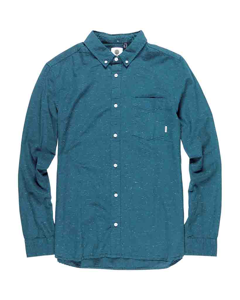 Chemise ELEMENT GREENE NEPS LONG SLEEVE SHIRT BLUE STEEL