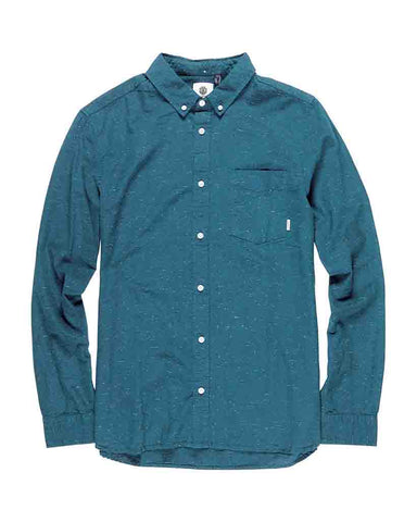 GREENE NEPS LONG SLEEVE SHIRT BLUE STEEL