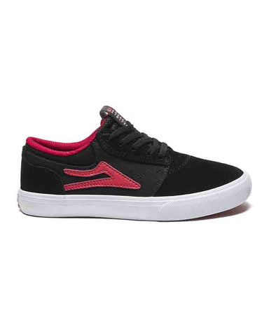 GRIFFIN KIDS BLACK RED SUEDE