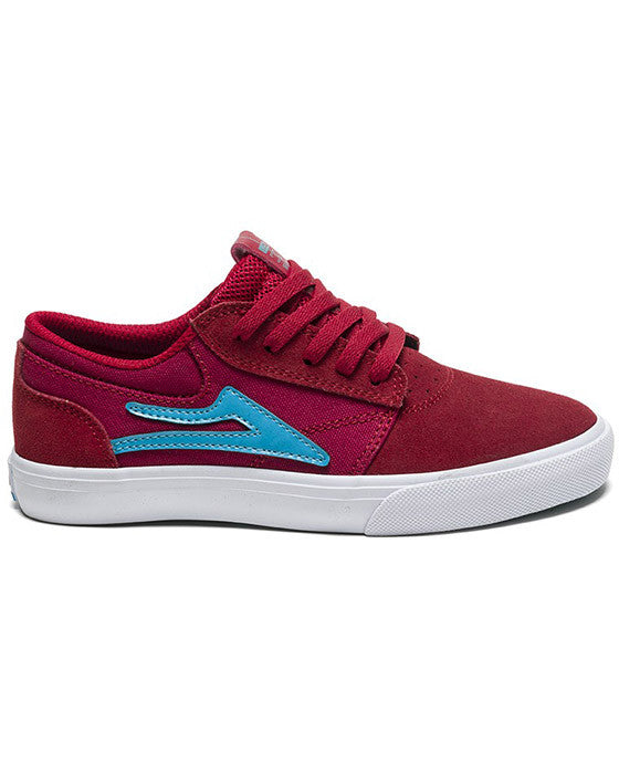 LAKAI GRIFFIN KIDS RED SUEDE shoes