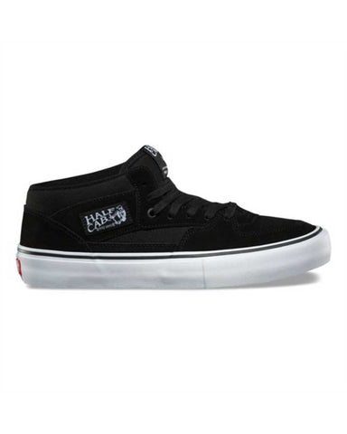 VANS HALF CAB PRO BLACK-BLACK-WHITE SKATE SHOES