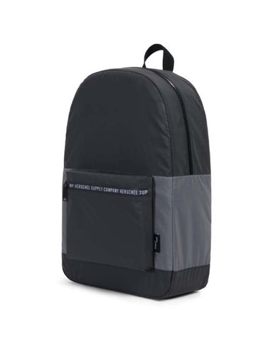 PACKABLE DAYPACK BLACK SILVER REFLECTIVE