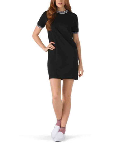 HIGH ROLLER V DRESS BLACK
