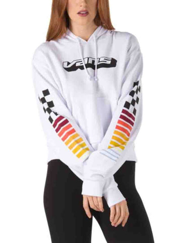 HI PERFORMANCE CROP HOODIE WHITE