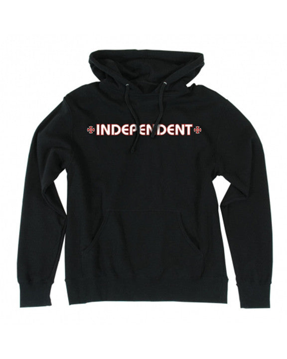 INDEPENDENT BAR / CROSS HOOD BLACK Hoodie