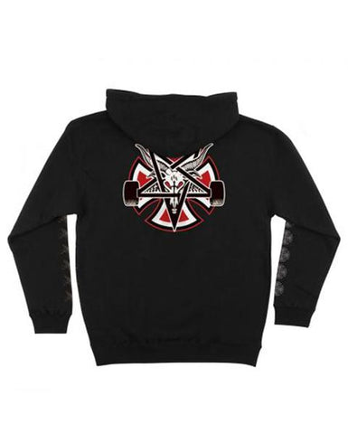 5173af45ae69 INDY THRASHER Hoodie PENTAGRAM CROSS HOOD BLACK
