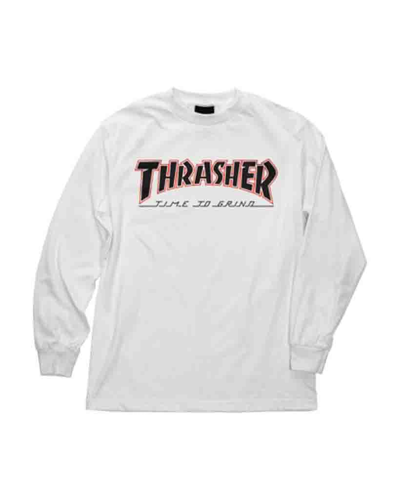 T-shirt manche longue INDEPENDENT INDY X THRASHER TIME TO GRIND LS WHITE