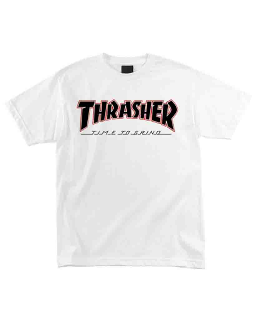 INDEPENDENT INDY X THRASHER T-shirt TIME TO GRIND WHITE