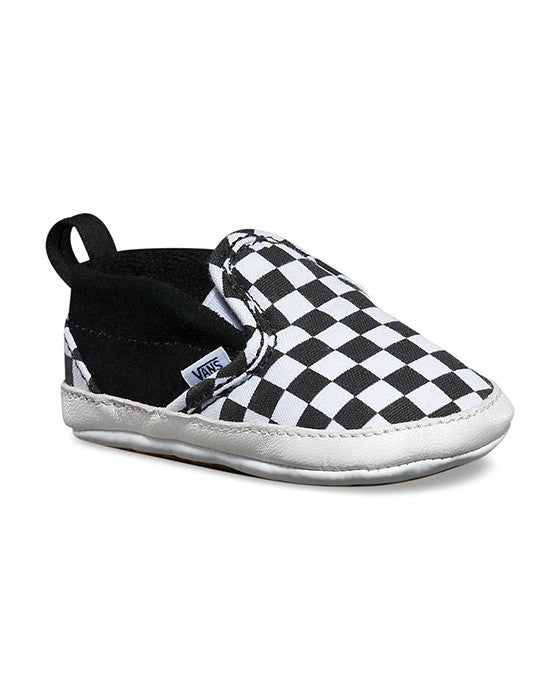 VANS INFANT SLIP-ON V CRIB CHECKER BLACK Shoes