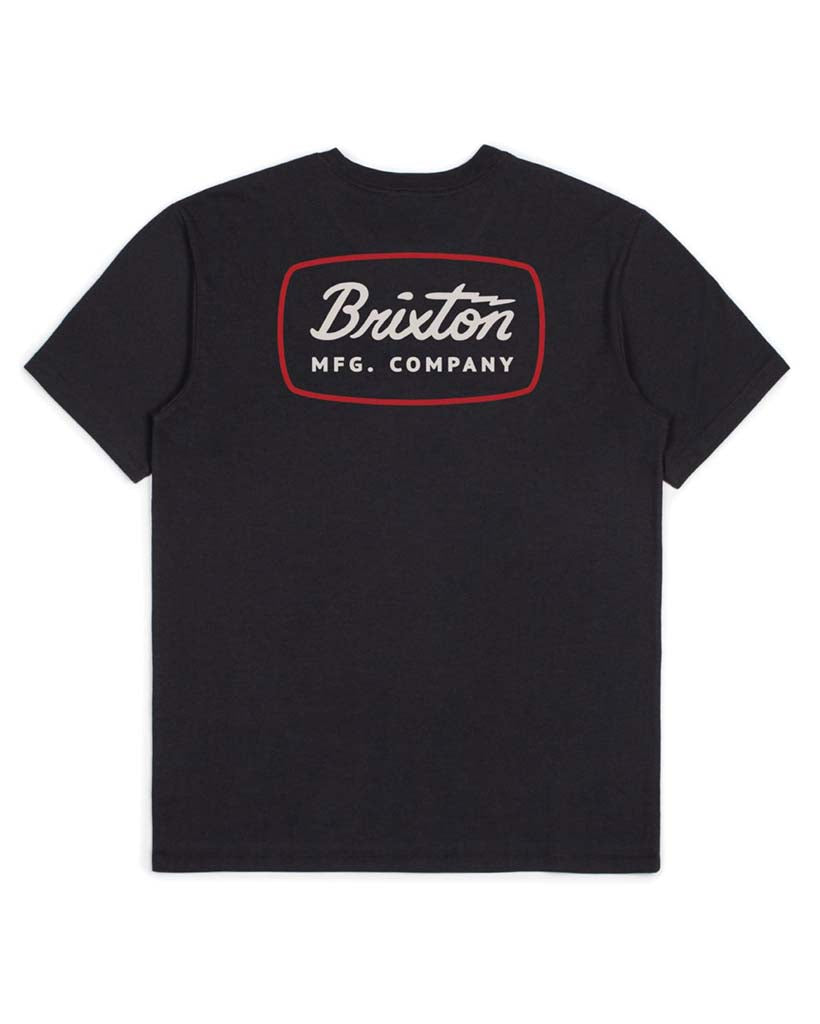 T-shirt BRIXTON JOLT SS PREMIUM WASHED TEE BLACK-RED