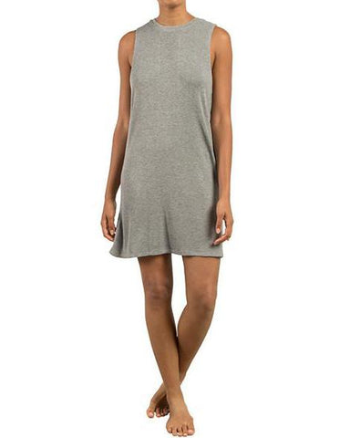 LIL MUSCLE DRESS HEATHER GREY