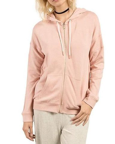 LIL ZIP FLEECE MELLOW ROSE